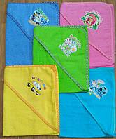 Уголки-полотенца махровые для купания малышей.