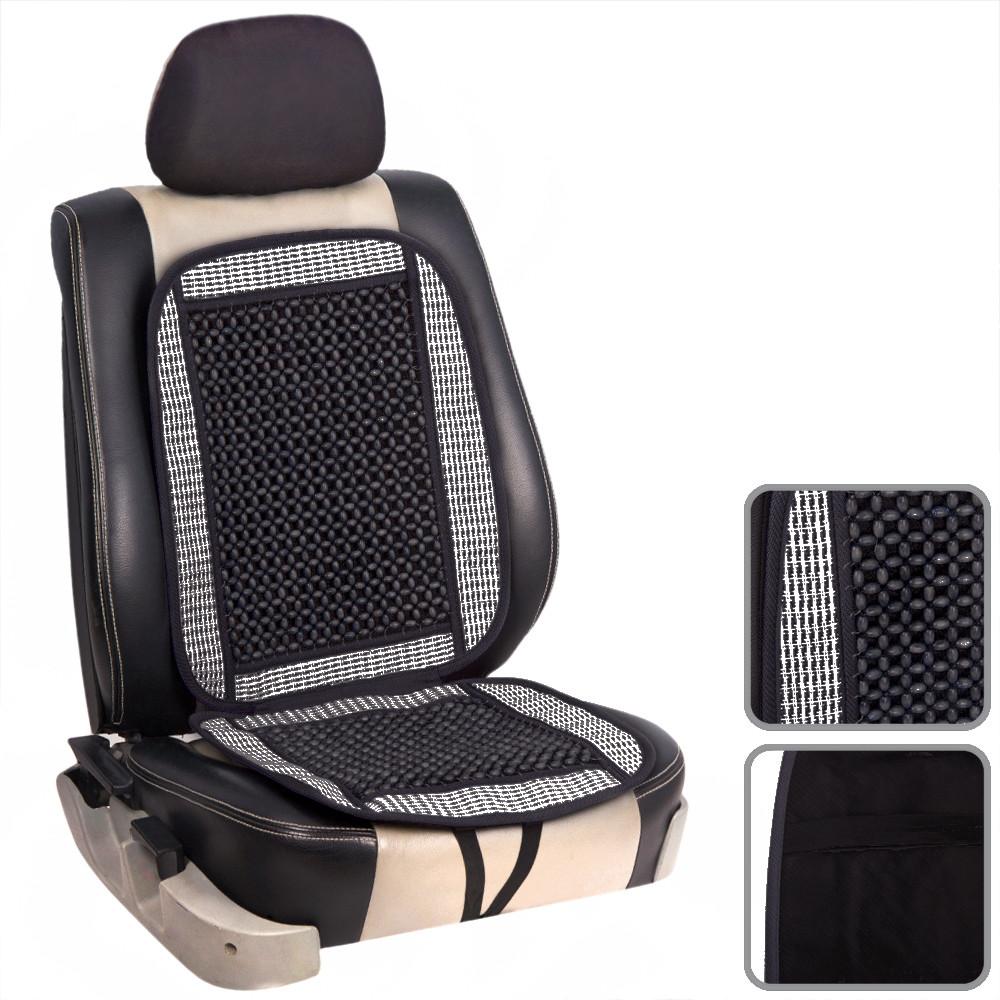 Накидка на сиденье с косточками (черная) Vitol