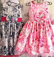 Детские нарядные праздничные платья Розочка,возраст 5-6 лет S216