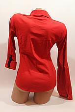 Женские однотонные рубашки EL5820 красный, фото 3