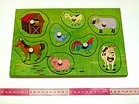 Досточка вкладки с животными Ферма Розумний лис (90026)