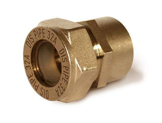 Муфта труба-внутренняя резьба никелированная усиленная DISPIPE 40х1 1/2, фото 2