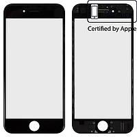 Защитное стекло корпуса для Apple iPhone 6, с рамкой, с OCA-пленкой, оригинал, черное