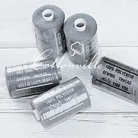 Нитки швейные 40s/2 прочные (1000 Y) цвет серый