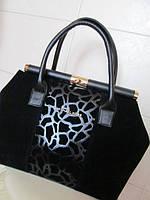 Женская сумка Michael Kors (Майкл Корс), чёрная комбинированная