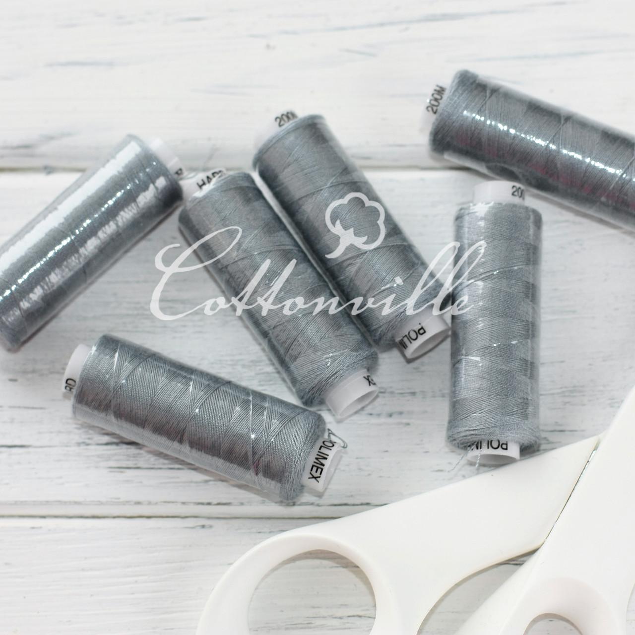 Нитки швейные 40s/2 (200 м) цвет серый