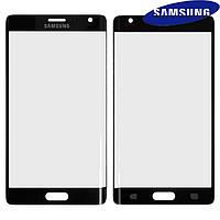 Стекло корпуса для Samsung Galaxy Note Edge N915F, черное, оригинал