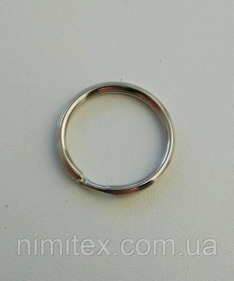 Кольцо для ключей 20 мм никель