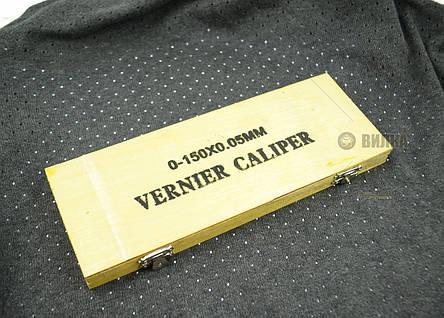 Штангенциркуль 0,02мм/150мм в деревянной коробке Vorel, фото 2