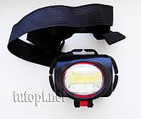 Фонарик налобный 5W Cob Headlights BL-536-COB 3 R6/AA Батарейки, 1 режим освещения, крепление на голову