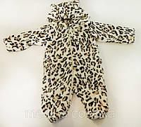 Комбинезон махровый детский. Леопард