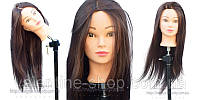 Учебный манекен Mia, длина 65-70 см, шатеночка30% натуральных волос.
