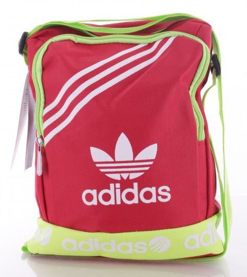 Стильная сумка Adidas color 6014 red, красный Копия