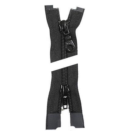 Молния YKK пластик 100 см. тип 5/2, цвет 580-чёрный, фото 2