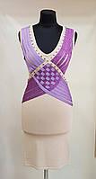 Нарядное платье бежевое с сиреневыми вставками Etincelle(Франция)