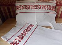 Постельное белье с вышивкой Оберег Цветок папоротника полуторное Бязь ГОСТ