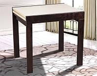 Стол обеденный раскладной Слайдер каркас венге, столешница крем