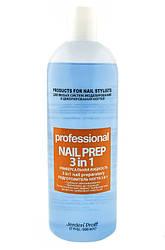 Nail Prep 3 in 1 Jerden PROFF - Антисептик, дегидратор, обезжириватель, 500 мл