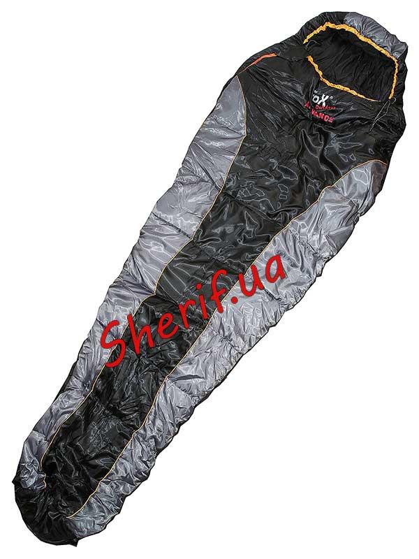 Мешок спальный теплый  225х80х55см Max Fuchs Advance Black/Grey (-10С) 31522A