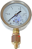 Манометр для измерения давления дизеля (виброустойчивый) 25 атм
