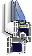 Окно стандартное 1,3*1,4 из профиля Brokelman-5k 1-кам стеклопак5