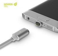 Оригинальный магнитный usb кабель WSKEN mini 2 для micro usb, iphone (lightning) . Универсальный магнитный кабель wsken от производителя. Гарантия качества.