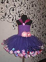 Юбка-платье ту-ту из фатина с лепестками, фото 2