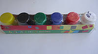 """Пальчиковые краски """"You Yan"""",6цв,30мл для раннего детского творчества и рисования.Краски для рисования пальчик"""