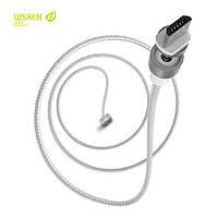 Оригинальный магнитный usb кабель WSKEN round для micro usb, iphone (lightning), type C (без передачи данных, только зарядка) . Универсальный магнитный кабель wsken от производителя. Гарантия качества.