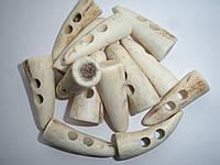 Пуговица натуральная костяная для навесной застежки, 3.5см , фото 1