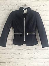 Куртка-пиджак темно-синий для девочек 6-14 лет