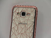 Чехол для смартфона Samsung Galaxy J500, J5 2015, J3 2016, J320 грань бронза, фото 1
