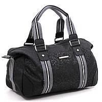 Качественная спортивная сумка из прочной ткани Dolly (Долли) 932 чёрный