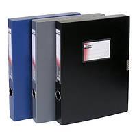 1760-01-А Папка-коробка 60 мм, чорна