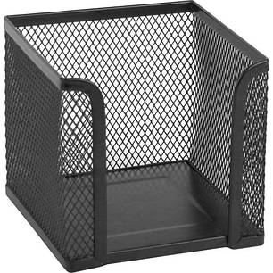 2112-01-A Куб для паперу 100х100x100мм, мет, чорний, фото 2