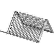 2114-01-A Підставка для візиток 95x80x60мм, металева, чорн, фото 2
