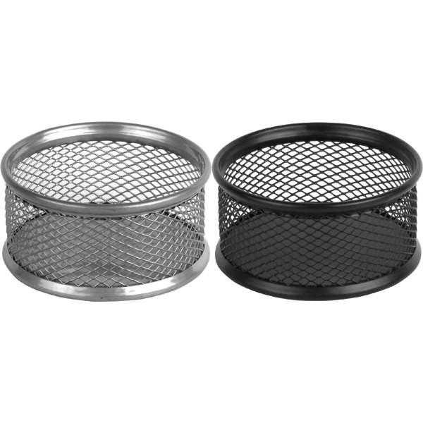 2113-01-A Підставка для скріпок 80x80x40мм, металева, чорн