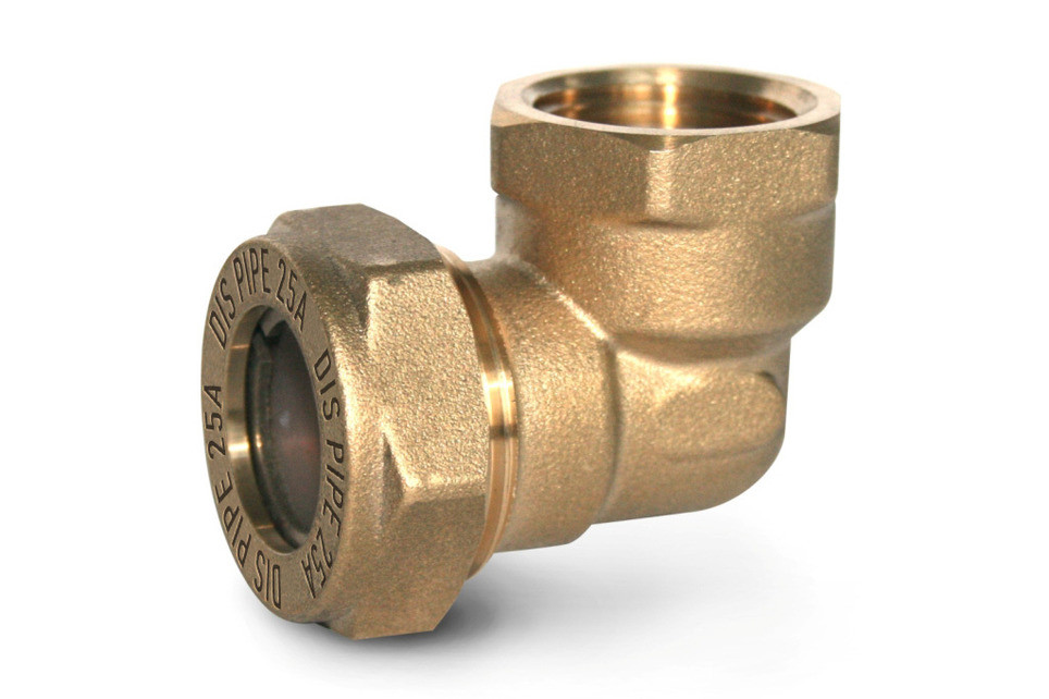 Угольник труба-внутренняя резьба DISPIPE 25х1