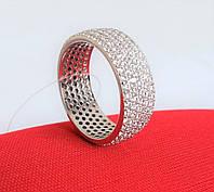 Кольцо серебряное Дорожка с Фианитами 925 пробы