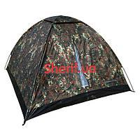 Палатка трехместная 2100мм х 2100мм Max Fuchs Monodom Flecktarn 32103V