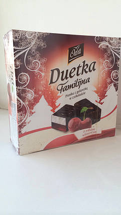 Конфеты птичье молоко с прослойкой желе из вишневого сока в шоколаде Duetka Польша 400г, фото 2