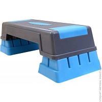 Степ Платформа Liveup Aerobic Step gray/blue (LS3168C)