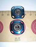 Кнопка пришивная, эмалированная, синяя, 28мм, фото 5