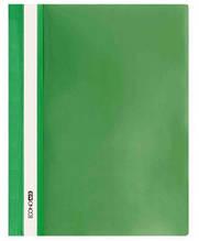 """Скоросшиватель с прозрачным верхом А4 PP """"глянец"""" зеленый. ECONOMIX"""