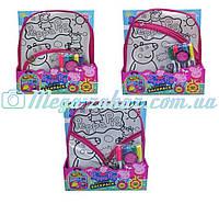 Сумка раскраска рюкзак Свинка Пеппа/Peppa Pig, 3 вида: 5 фломастеров в комплекте
