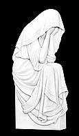 Накладка на памятник барельеф Скорбящая из полимера 80*37 см, фото 1