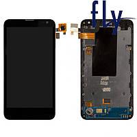 Дисплейный модуль (дисплей + сенсор) для Fly IQ4415, оригинал, черный