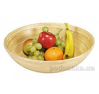 Ваза для фруктов Kesper G63025 круглая 25 см светлая