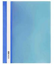 """Скоросшиватель с прозрачным верхом А4 PP """"глянец"""" синий. ECONOMIX"""