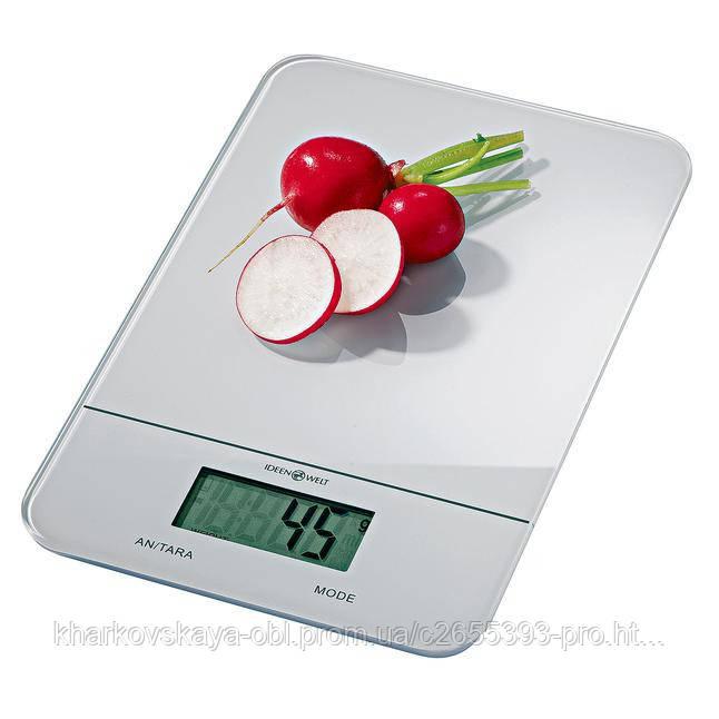 Стеклянные кухонные весы с сенсорным управлением из Германии